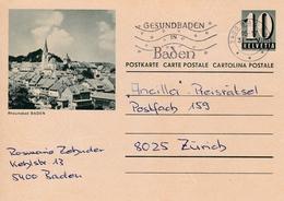 Bild-Postkarte  Rheumabad Baden. Stempel GESUNDBADEN IN BADEN - Interi Postali
