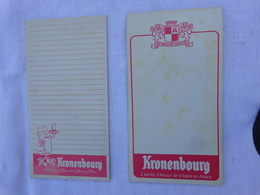 Lot De 2 Carnets De Bloc -peut Etre Incomplet- Kronenbourg  (differents)lot 7 - Alcools