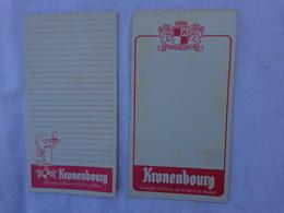 Lot De 2 Carnets De Bloc -peut Etre Incomplet- Kronenbourg  (differents)lot 8 - Alcools