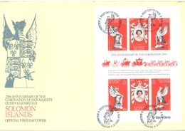 SOLOMON ISLANDS - FDC - 21.4.1978 - 25th ANNIVERSARY CORONATION ELIZABETH II - Yv 344-346 - Lot 17542 - Salomon (Iles 1978-...)