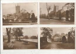Cp, Angleterre , WOLVERHAMPTON , Ed. Pelham , Vierges , West Park, Grammar School, St Peter's Church, LOT DE 4 CP - Wolverhampton