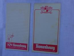 Lot De 2 Carnets De Bloc -peut Etre Incomplet- Kronenbourg  (differents)lot 9 - Alcolici