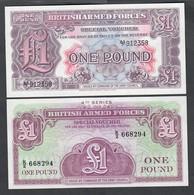 1 Pound 2à + 4à Series  BRITISH ARMED FORCES   LOTTO 2030 - Regno Unito