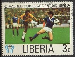 """PIA  - LIBERIA : 1978 - Argentina 78 """" Coppa Del Mondo Di Calcio - (Yv 766 ) - Liberia"""