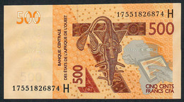W.A.S. NIGER  P619Hf 500 FRANCS (20)17 2017 UNC. - West African States