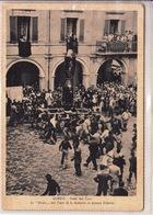 """Gubbio-Umbria-Festa Dei Ceri-La """"birata""""del Cero Di S.Antonio-Pza Oderisi-Vg1954-Originale E Integra 100% 2 Scann -an - Perugia"""