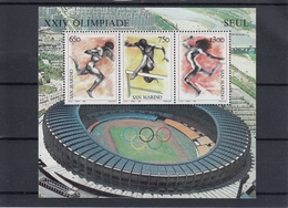 San Marino 19.09.1988 Mi # Bl 11 Seoul Summer Olympics MNH OG - Estate 1988: Seul
