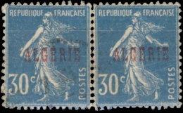 Algérie 1924. ~ YT  17 Paire - 30 C. Semeuse - Gebraucht