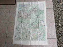 Cartes 106 X 74  Cm - Tourisme  Aérien Feuille 2 1928 Strasbourg Rotterdam - Maps