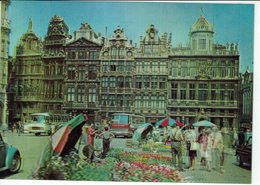 BRUXELLES-GRAND PLACE CARTE EN RELIEF 3 D -AUTOBUS-FLEURISTE - Cartes Postales
