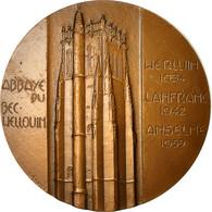 France, Médaille, Abbaye Du Bec Welloin, 1988, Emmel, SUP, Bronze - France