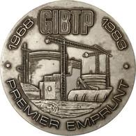 France, Médaille, GIBTP, Premier Emprunt, 1983, TTB+, Silvered Bronze - France