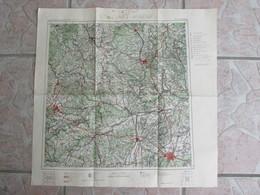 Cartes 56 X 56 Cm Vogels Karte Von Mitteleuropa  Munchen - Maps