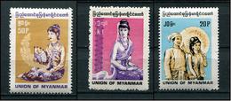 MYANMAR BIRMA BURMA 1990 - 1991 Mi # 304 - 305 + A 307 UNION OF MYANMAR MNH - Myanmar (Burma 1948-...)