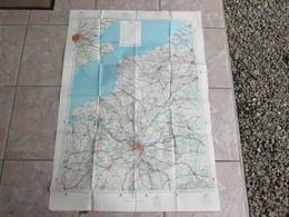 Cartes 105 X 74 Cm Tourisme Aerien Feuille 1 - 1928 Paris Londres - Maps