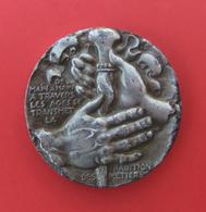 Médaille En Bronze - Cinquantenaire Lycée Lafayette Pittsburgh Lycée Uruguay France - Année 1969 - Professionals / Firms