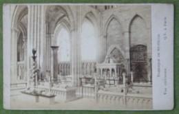 Petite Photo Vue Intérieure De La Basilique Saint Denis à Paris, Vers 1880-90 - Antiche (ante 1900)