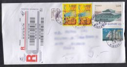 France Modern Cover Travelled To Serbia - Cartas