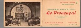 Tanger (Maroc) Carte Restaurant LE PROVENCAL (PPP14004) - Publicités