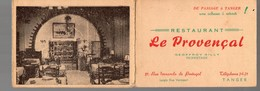 Tanger (Maroc) Carte Restaurant LE PROVENCAL (PPP14004) - Publicidad