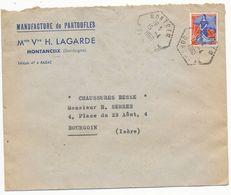 DORDOGNE ENV 1960 MONTREM AGENCE POSTALE - Postmark Collection (Covers)