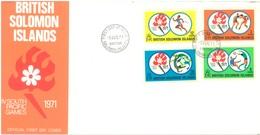 SOLOMON ISLANDS - FDC - 9.8.1971 - SOUTH PACIFIC GAMES - Yv 203-206 - Lot 17547 - Salomon (Iles 1978-...)