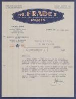 75 20 904 PARIS SEINE 1931 Jouets D Ete M. FRADET Jouet Scientifique Rue ND Du Calvaire USINE A LE LILAS Rue Romainville - 1900 – 1949