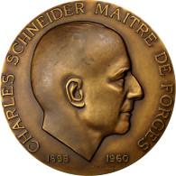 France, Médaille, Charles Schneider, Maitre De Forges, 1960, Lagriffoul, SUP+ - France
