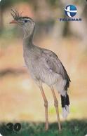 TARJETA DE BRASIL DE UN  SERIEMA  (BIRD-PAJARO) - Brésil