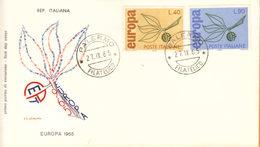 FDC ITALIA 1965 EUROPA CEPT BUSTA FILIGRANO ANNULLO PALERMO. - 6. 1946-.. Repubblica