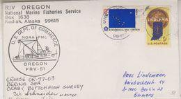 USA 1976 R/V Oregon Bering Sea Ca Master Cover (39610) - Poolshepen & Ijsbrekers