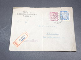 TCHÉCOSLOVAQUIE - Enveloppe En Recommandé De Prague Pour La France En 1923 - L 20079 - Briefe U. Dokumente