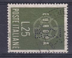 Italy Perfin Perforé Lochung 'B.C.I.' 1959 Europa CEPT Stamp (2 Scans) - Varietà E Curiosità