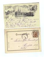 """Österreich, 1896, AK """"Gruss Aus Wien"""", Frank.mit 2Kr/Kaiser Franz Josef (MiNr.51), Stempel Wien Und Hainfeld (11414E) - Wien"""