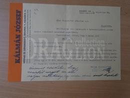 DC33.13  Hungary  Commercial Letter - Nagykörös - Budapest Kálmán József  1946 - Invoices & Commercial Documents