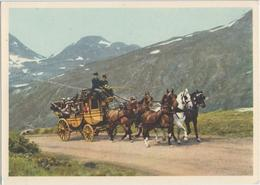 1860 Fünfspännerpostauf Den Simplon, Diligence, Diligenza, - VS Valais