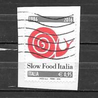 Italia 2016  30° Anniversario Della Fondazione Di Slow Food Italia  Valore Usato (0,95 Euro)  Sassone 3707 - 6. 1946-.. Repubblica
