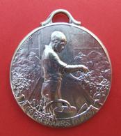 Médaille En Métal Blanc - Centre Horticole Pour Orphelins De Guerre - Les Pressoirs Du Roy à Champagne Sur Seine - Professionals / Firms