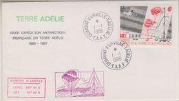TAAF 1986 IAGO 1v  FDC Ca Dumont D'Urville Terre Adelie (32317C) - FDC