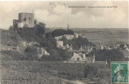 MONTRICHARD . VUE SUR LE DONJON ET LA VILLE . AFFR SUR RECTO LE 22-9-1910 - Montrichard