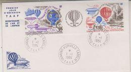 TAAF 1984 Bicentenaire De L'Air Et De L'Espace / Balloons 2v +label FDC Ca Dumont D'Urville Terre Adelie (39618) - FDC