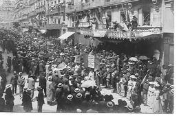 34 MONTPELLIER MANIFESTATION VINICOLE 9 JUIN 1907   CARTE PHOTO ET TEXTE AU VERSO 2 SCANS - Montpellier