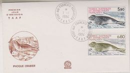 TAAF 1984 Phoque Crabier 2v  FDC Ca Port-aux-Francais (39619) - FDC