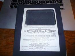 LDM3 Lettre De Mort  Germaine Van Pottelsberghe De La Potterie Cardon De Lichtbijer Noblesse Waregem 1905 1942 - Overlijden