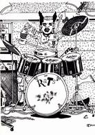 MOREAU Fabien   - Orchestre Punk  Les Rats Musique  Batterie -   CPM  10,5x15 TBE Neuve 300 Ex - Autres Illustrateurs