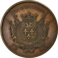 France, Médaille, Tir De Versailles, 1879, TTB+, Cuivre - France