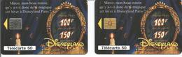 2 Télécartes DISNEYLAND PARIS MIROIR 50 U SO3 Et SO5 - 02/95 Utilisées ( N° 519 Et 519 A ) - Disney