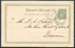 1887 Norway 5 Oe Stationery Postcard, Randers Railway - Drammen - Briefe U. Dokumente