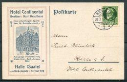 1914 Germany Bavaria Munchen. Hotel Continental Halle, Illustrated Advertising Postcard - Brieven En Documenten