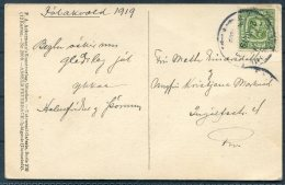 1919 Iceland Feuerbach Painting Postcard 5 Ore Local Useage - 1918-1944 Administration Autonome